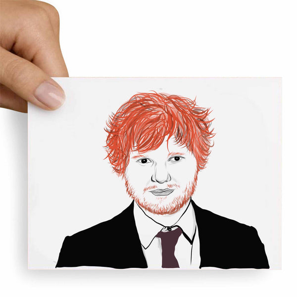 Ed Sheeran Valentines / Anniversary / Birthday / Christmas Card // Babes & Gents // www.babesngents.com