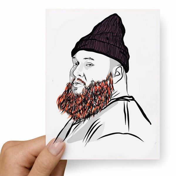 Action Bronson Valentines / Anniversary / Birthday / Christmas Card // Babes & Gents //  www.babesngents.com