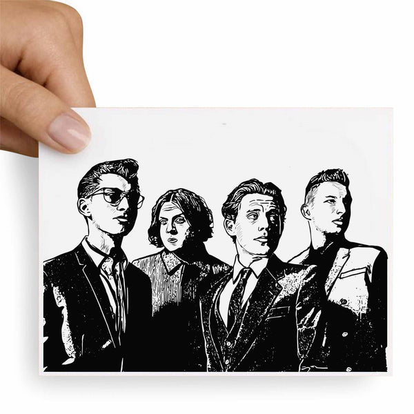 Arctic Monkeys Valentines / Anniversary / Birthday / Christmas Card // Babes & Gents //  www.babesngents.com