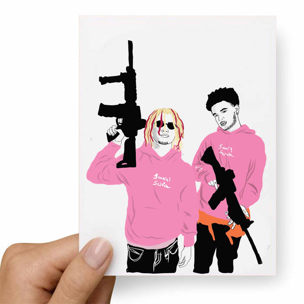 Lil Pump + Smokepurpp Valentines / Anniversary / Birthday / Christmas Card // Babes & Gents // www.babesngents.com