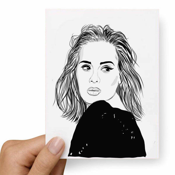 Adele Valentines / Anniversary / Birthday / Christmas Card // Babes & Gents // www.babesngents.com