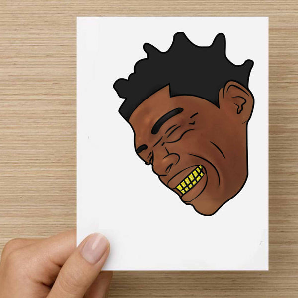 Kodak Black Color Valentines / Anniversary / Birthday / Christmas Card // Babes & Gents //  www.babesngents.com