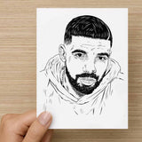 Drake 6 god Valentines / Anniversary / Birthday / Christmas Card // Babes & Gents //  www.babesngents.com
