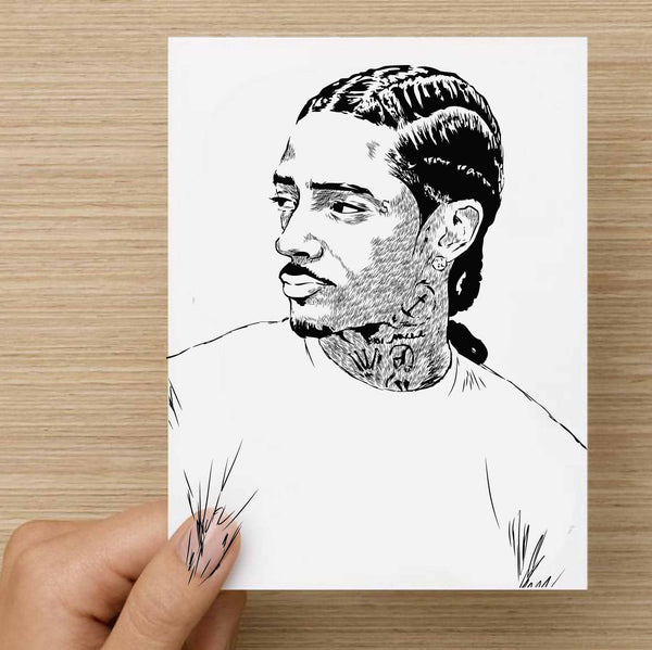 Nipsey Hussle Valentines / Anniversary / Birthday / Christmas Card // Babes & Gents //  www.babesngents.com