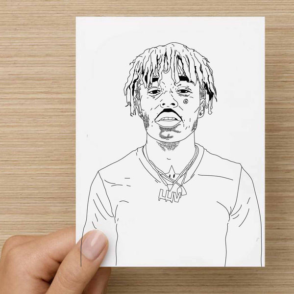 Lil Uzi Vert Valentines / Anniversary / Birthday / Christmas Card // Babes & Gents //  www.babesngents.com