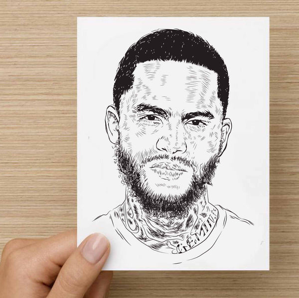 Dave East Valentines / Anniversary / Birthday / Christmas Card // Babes & Gents //  www.babesngents.com