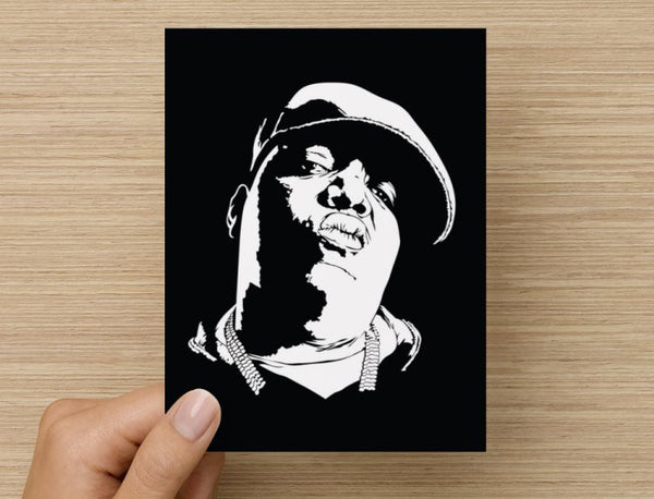 The Notorious B.I.G. Valentines / Anniversary / Birthday / Christmas Card // Hip Hop Biggie Smalls big juicy // Babes & Gents //  www.babesngents.com