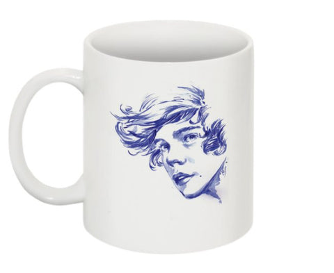Harry Styles 1D One Direction 11 0Z Ceramic White Mug
