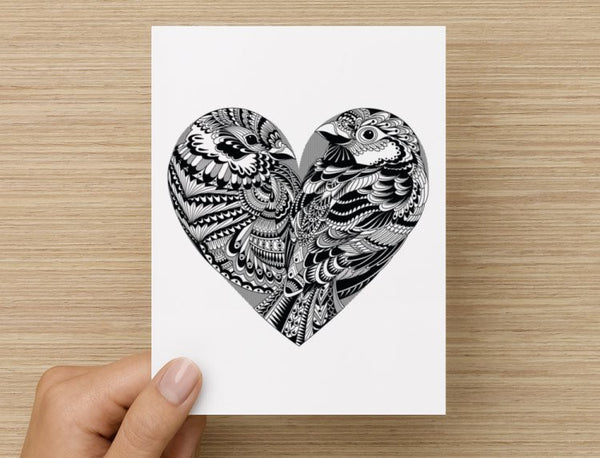 Love Birds Valentines / Anniversary / Birthday / Christmas Card // Babes & Gents //  www.babesngents.com