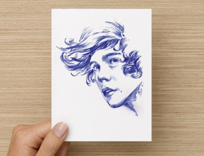 Harry Styles 1D One Direction Postcard