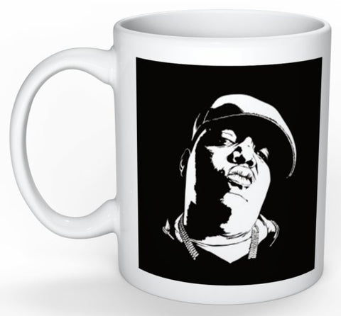 The Notorious B.I.G. 11 0Z Ceramic White Mug // Hip Hop Biggie Smalls big juicy