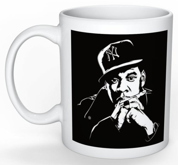 Jay-Z 11 0Z Ceramic White Mug // Hip Hop jayz brooklyn // Babes & Gents // www.babesngents.com