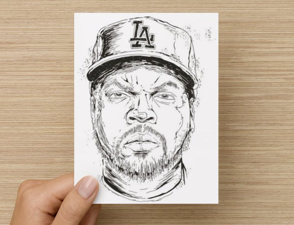 Ice Cube NWA Valentines / Anniversary / Birthday / Christmas Card // hip hop // Babes & Gents //  www.babesngents.com