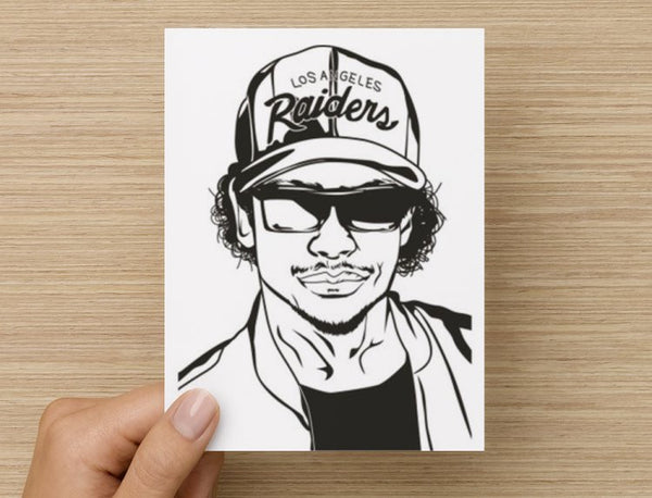 Eazy-E Valentines / Anniversary / Birthday / Christmas Card // hip hop eazye NWA // Babes & Gents //  www.babesngents.com
