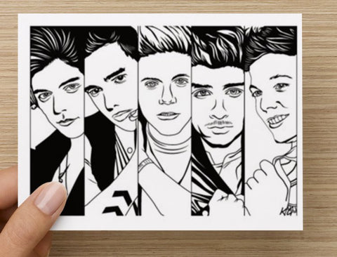 One Direction 1D Valentines / Anniversary / Birthday / Christmas Card // Harry styles zayn malik liam payne niall horan louis tomlinson
