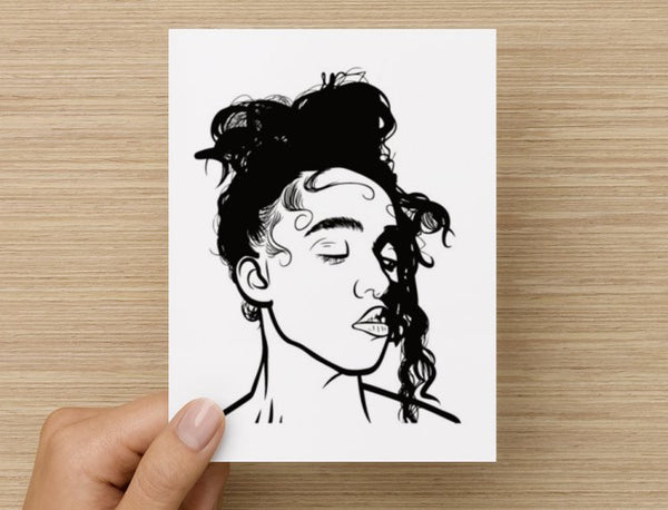 FKA Twigs Valentines / Anniversary / Birthday / Christmas Card // M3LL155X LP1 British // Babes & Gents //  www.babesngents.com