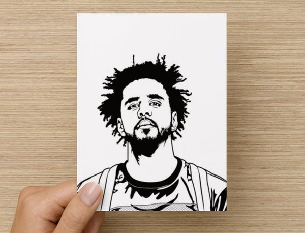 J. Cole Valentines / Anniversary / Birthday / Christmas Card // Jcole dreamville coleworld // Babes & Gents //  www.babesngents.com