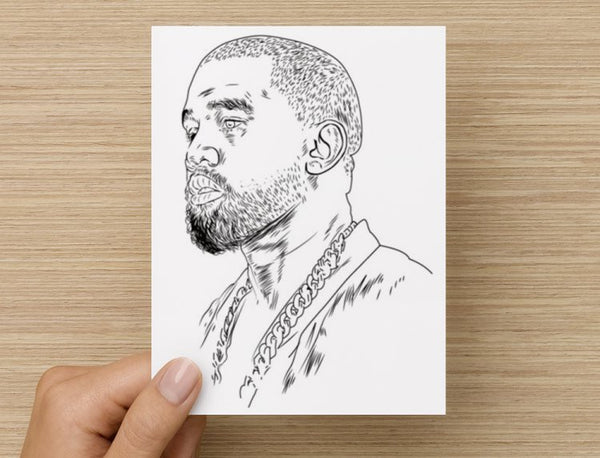 Kanye West Yeezus Valentines / Anniversary / Birthday / Christmas Card // Babes & Gents //  www.babesngents.com