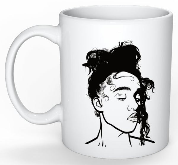 FKA Twigs 11 0Z Ceramic White Mug // M3LL155X LP1 British // Babes & Gents // www.babesngents.com