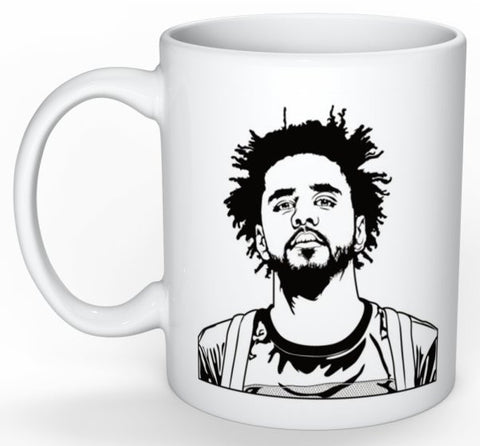 J. Cole 11 0Z Ceramic White Mug // Jcole dreamville coleworld