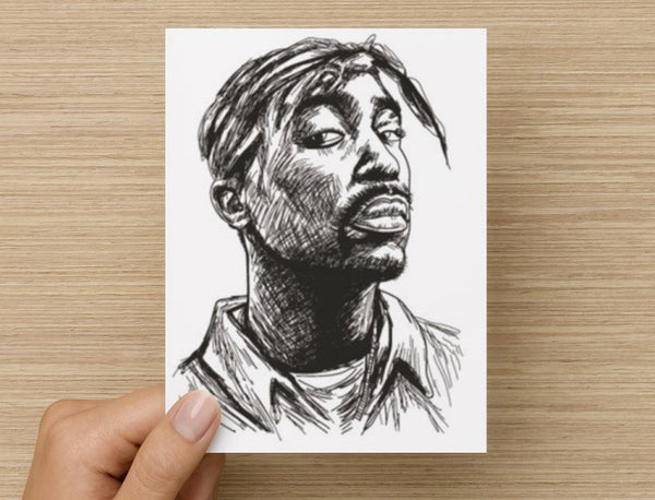 Tupac Shakur Valentines / Anniversary / Birthday / Christmas Card // Hip Hop Thug Life California 2 // Babes & Gents //  www.babesngents.com