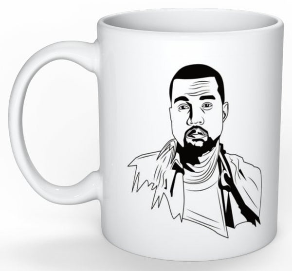 Kanye West Yeezy 11 0Z Ceramic White Mug // waves yeezus tour // Babes & Gents // www.babesngents.com