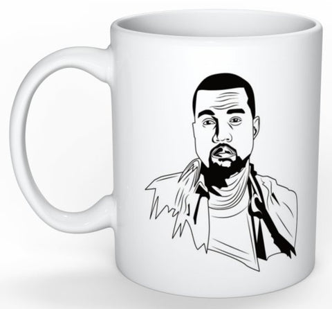 Kanye West Yeezy 11 0Z Ceramic White Mug // waves yeezus tour