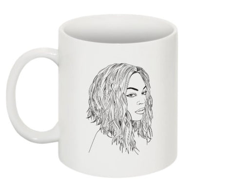Beyonce 11 0Z Ceramic White Mug // Flawless I woke up like this