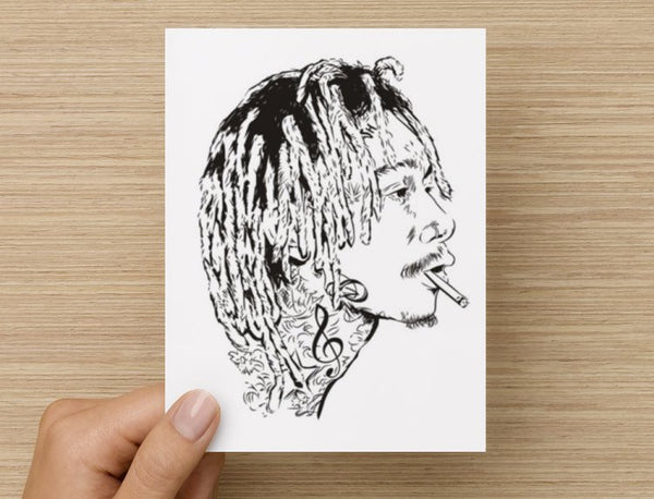 Wiz Khalifa mistercap Valentines / Anniversary / Birthday / Christmas Card // taylor gang // Babes & Gents //  www.babesngents.com