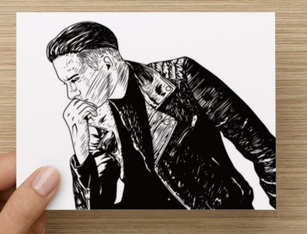 G-eazy When its dark out Valentines / Anniversary / Birthday / Christmas Card // geazy g eazy leather jacket // Babes & Gents //  www.babesngents.com