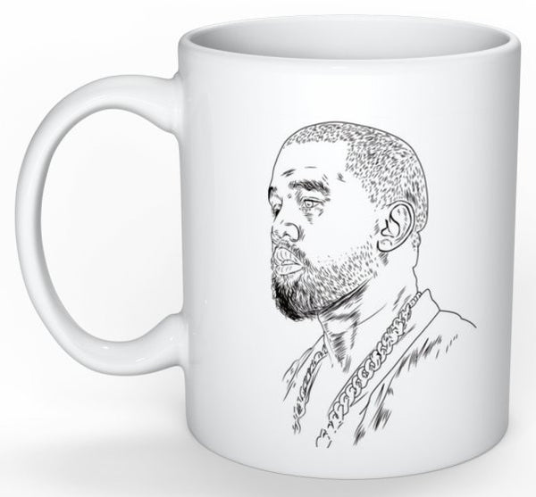 Kanye West Yeezus 11 0Z Ceramic White Mug // Yeezy Tour // Babes & Gents // www.babesngents.com