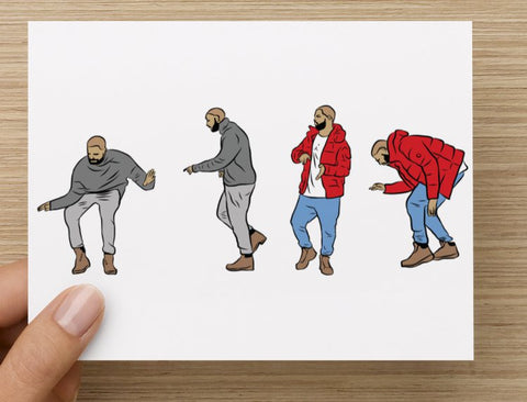 Drake Hotline Bling Dance Postcard // Jumpman views what a time Bling Drizzy Woes 6 god