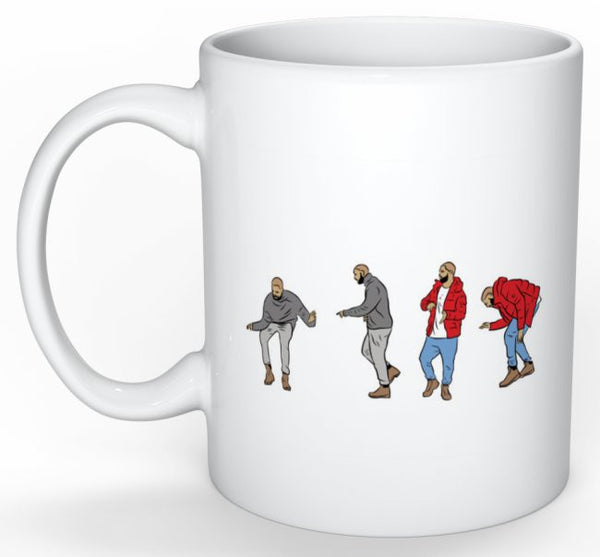 Drake Hotline Bling Dance 11 0Z Ceramic White Mug // views what a time Bling Drizzy Woes 6 god // Babes & Gents // www.babesngents.com