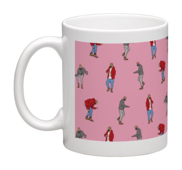 Drake Hotline Bling Dance Pattern 11 0Z Ceramic White Mug // views what a time Bling Drizzy Woes 6 god // Babes & Gents // www.babesngents.com