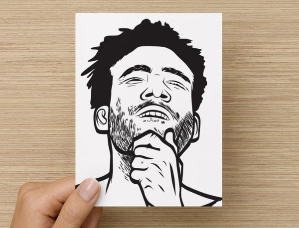 Childish Gambino Valentines / Anniversary / Birthday / Christmas Card // Donald Glover 3005 // Babes & Gents //  www.babesngents.com