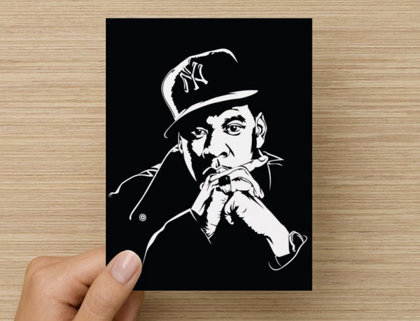 Jay Z Valentines / Anniversary / Birthday / Christmas Card // hip hop Jay-Z brooklyn // Babes & Gents //  www.babesngents.com
