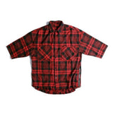Red Short Sleeve Plaid Button down Shirt (Unisex) // zargara streetwear hypebeast highsnobiety complex // www.babesngents.com