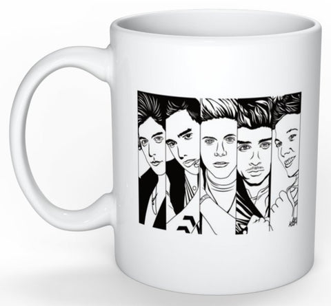 One Direction 1D 11 0Z Ceramic White Mug // Harry styles zayn malik liam payne niall horan louis tomlinson