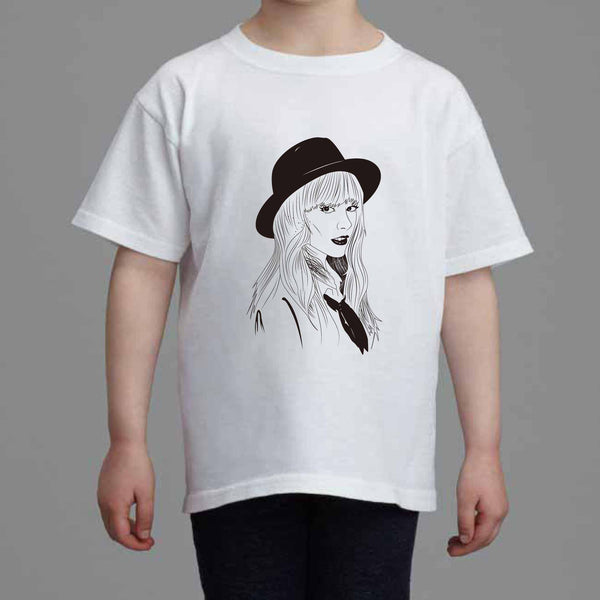 Taylor Swift Kids White Tee (Unisex) // 1989 Shake it off unique artsy // Babes & Gents // www.babesngents.com