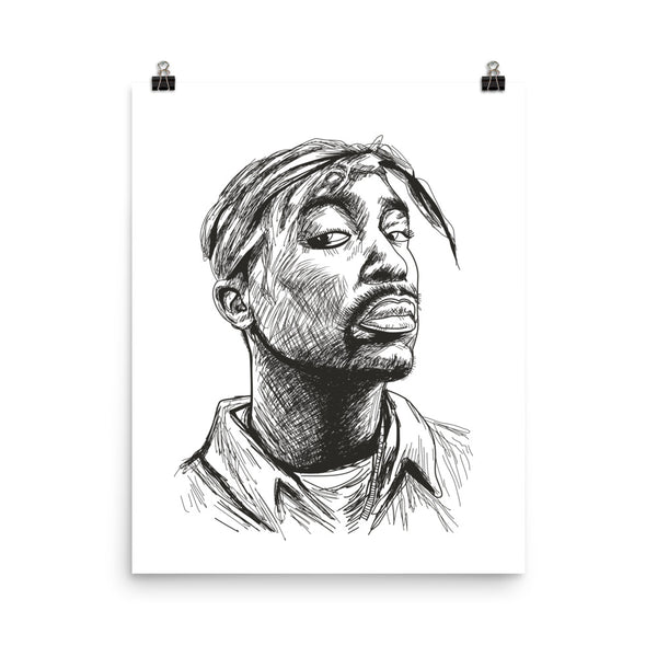 Tupac Shakur Art Poster (6 sizes) // Hip Hop Thug Life California 2 // Babes & Gents // www.babesngents.com
