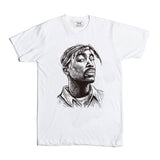 Tupac Shakur White Tee (Unisex) // Hip Hop Thug Life California 2 // Babes & Gents // www.babesngents.com
