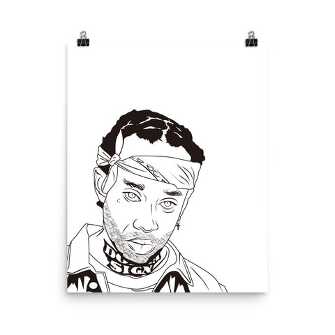 Ty Dolla Sign Art Poster (3 sizes) // TYS Free TC Blase Airplane Mode Taylor Gang