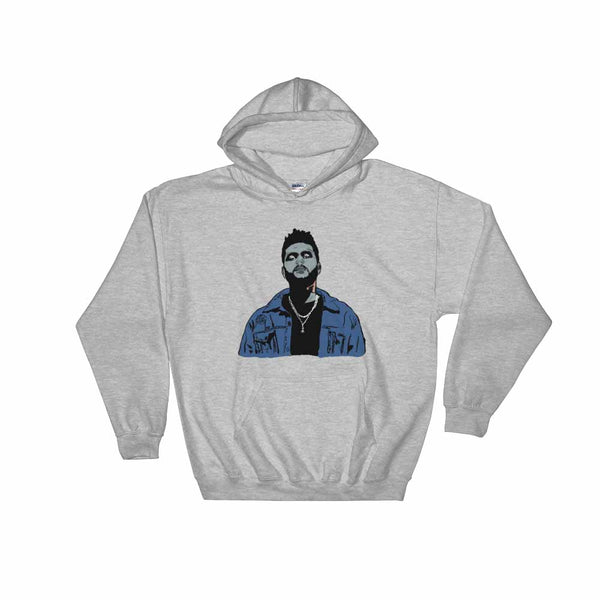 The Weeknd Grey Hoodie Sweater (Unisex), Babes & Gents, Ottawa