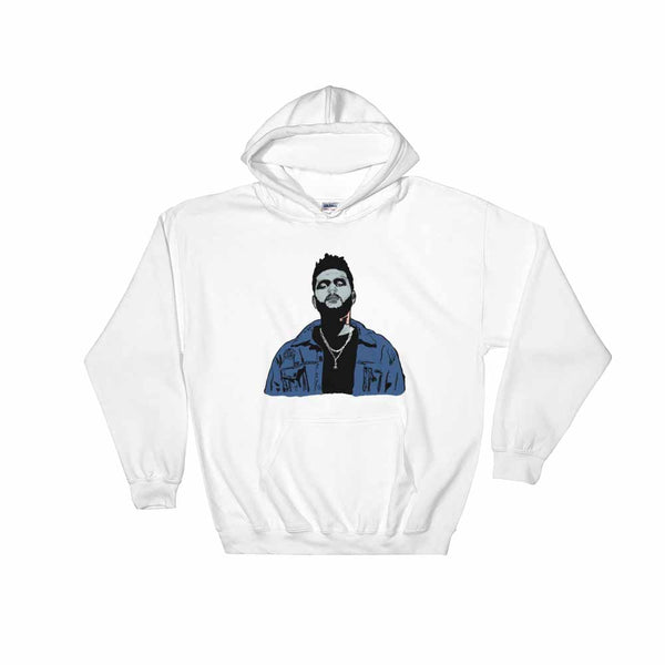 The Weeknd White Hoodie Sweater (Unisex), Babes & Gents, Ottawa
