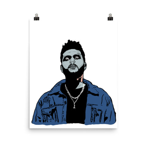 The Weeknd Art Poster (8x10 to 24x36)