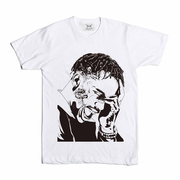 Travis Scott La Flame Rodeo White Tee // T-shirt // Babes & Gents // www.babesngents.com