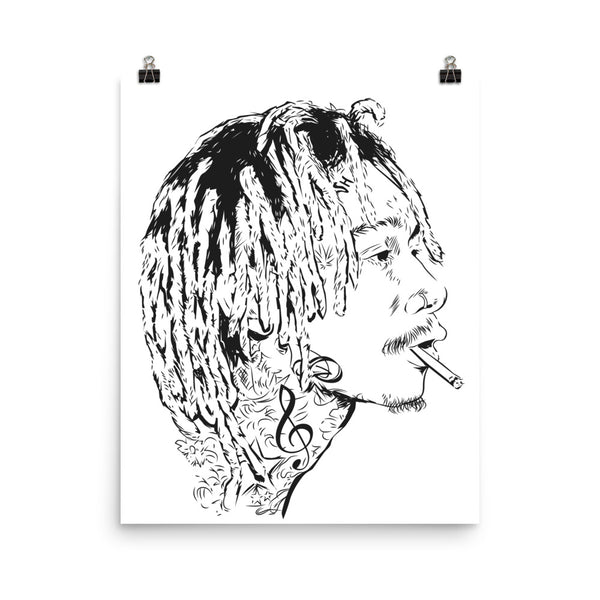 Wiz Khalifa mistercap Art Poster (6 sizes) // taylor gang // Babes & Gents // www.babesngents.com