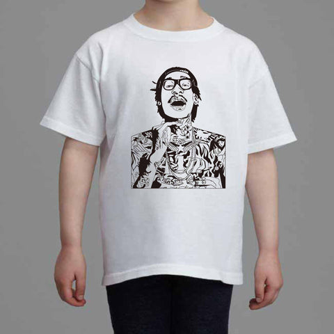 Wiz Khalifa Kids White Tee (Unisex) // see u again we dem boyz king of everything taylor gang
