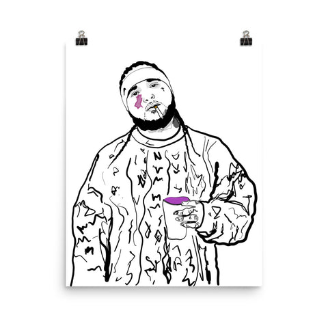 ASAP Yams A$AP Mob Art Poster (8x10 to 24x36)