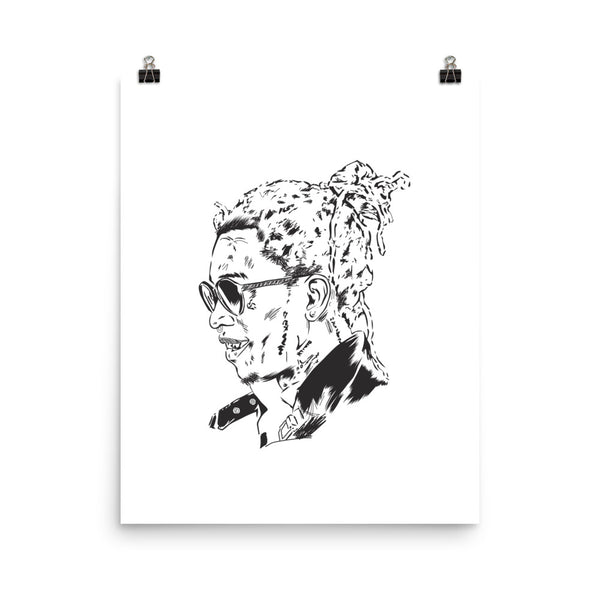 Young Thug Art Poster (3 sizes) // Slime season barter 6 thugger stoner cesar the ape // Babes & Gents // www.babesngents.com
